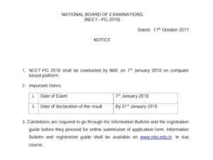 NEET PG Exam Date released Officially